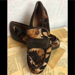 Donald J. Pliner Leopard calf hair loafers